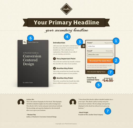 Anatomy of a perfect landing page