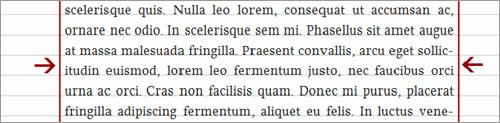 Выровненный по ширине текст требует определенно меньшей ширины столбца, чем текст с обрезанием по правому краю.